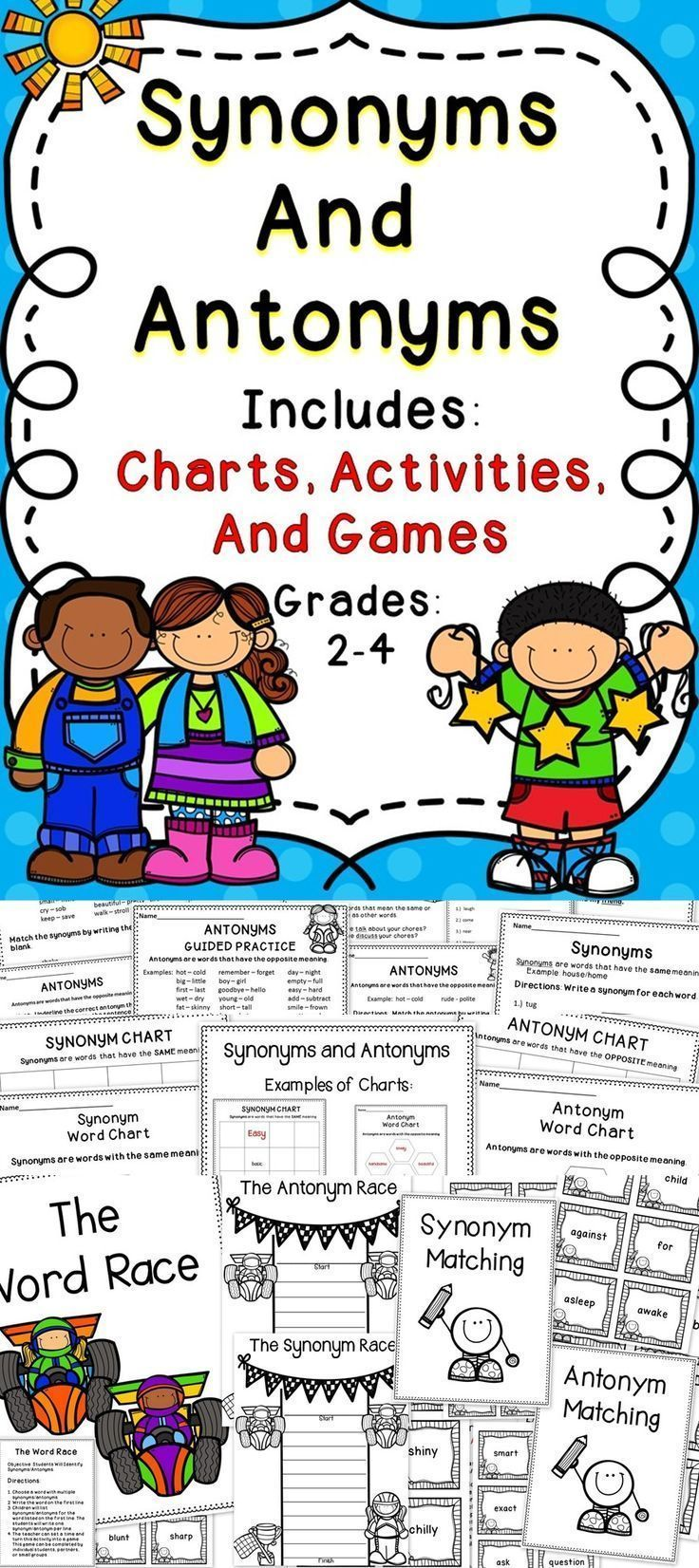 Synonyms and Antonyms   Reading skills, Common core standards and ...