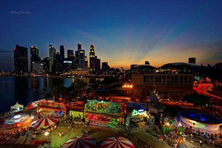 Clarke Quay and Singapore Skyline captured by my friend Wang Teck Heng