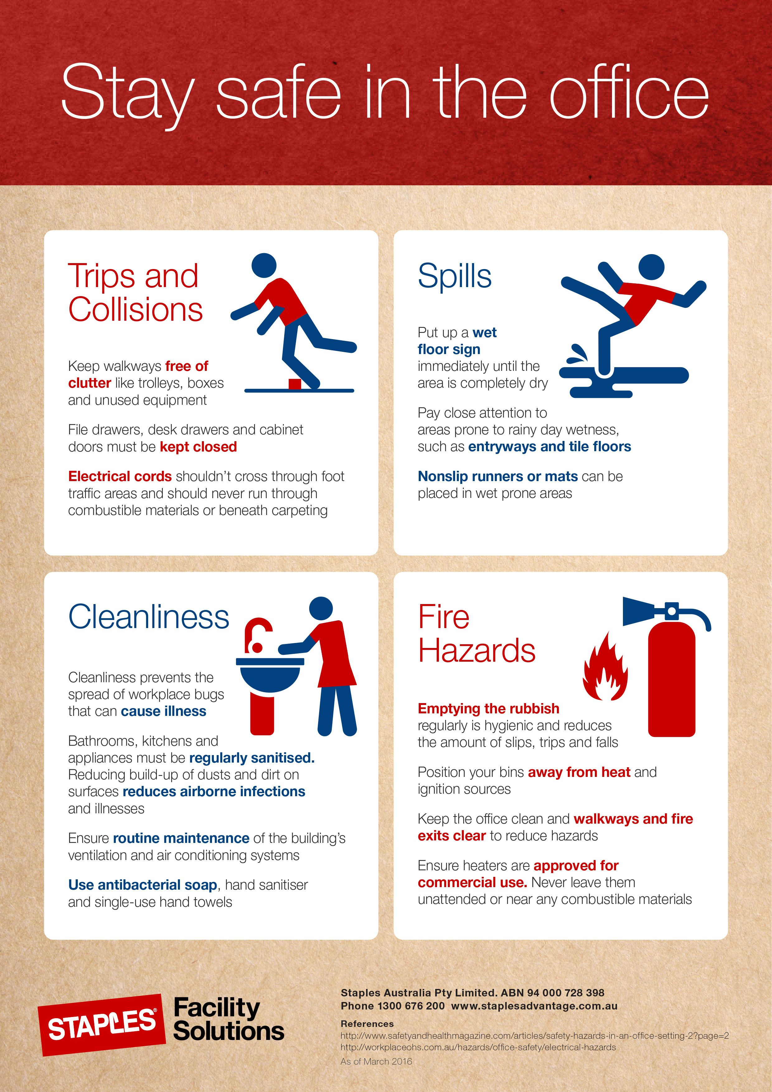 Infographic Office safety tips to help maintain a safe