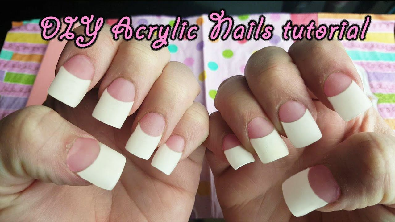 how to apply acrylic nails on yourself