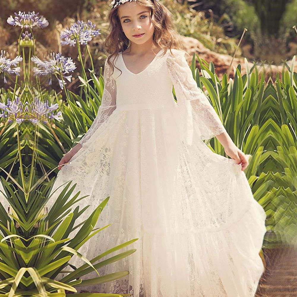 Find more dresses information about first communion dresses white a cheap flower girl dresses buy quality communion dresses for girls directly from china flower girl suppliers three quarter dresses for girls first izmirmasajfo