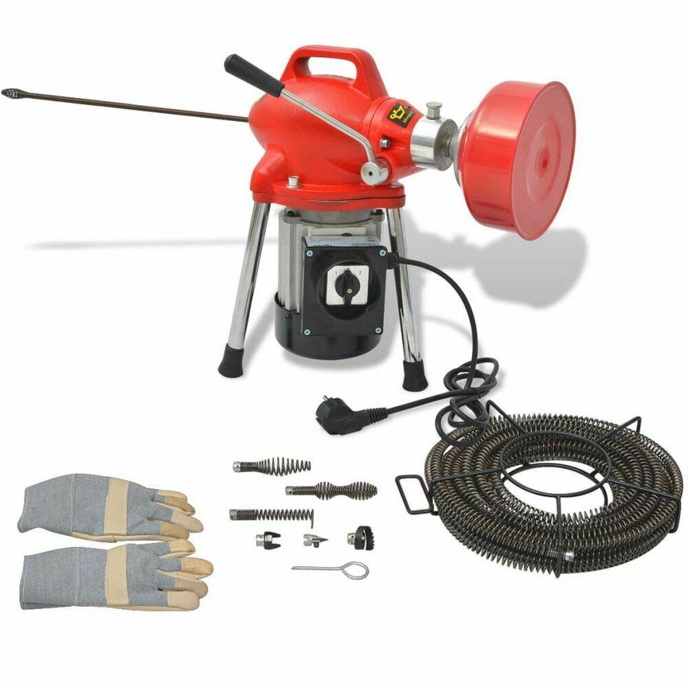 Ebay Sponsored Vidaxl Rohrreinigungsmaschine Rohrreinigungsgerat Abflussreiniger Set 250w Neu Rohre Abflussreiniger Reinigen