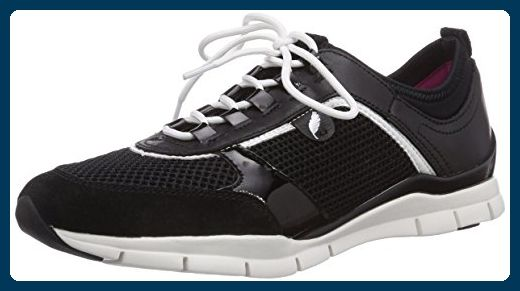 Geox D SUKIE B, Damen Sneakers, Schwarz (BLACKC9999), 40 EU