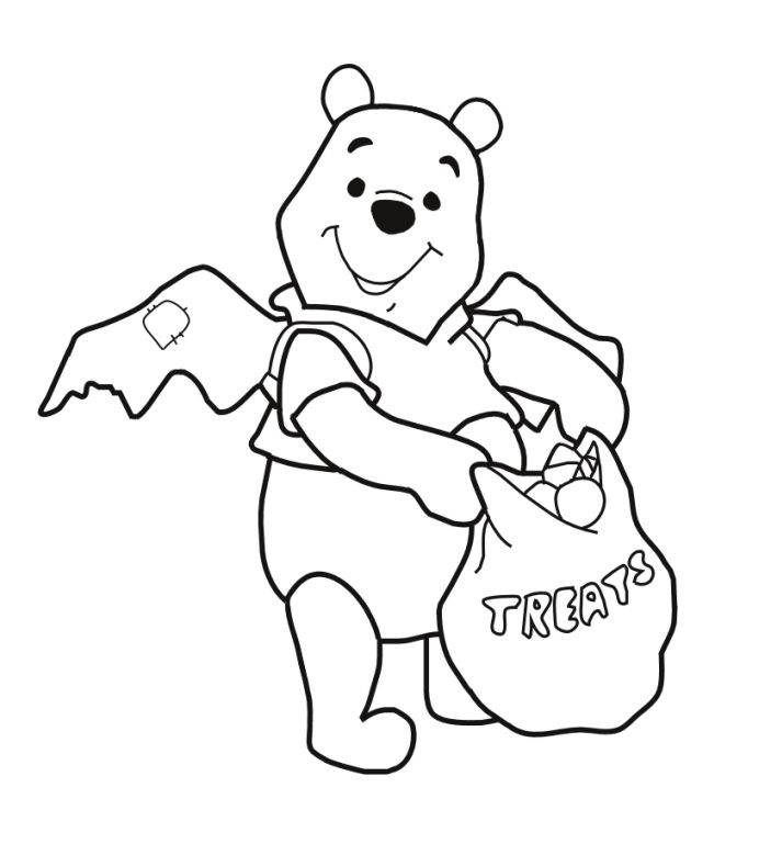 Halloween coloring | Pooh Halloween Coloring Pages | Holiday ...
