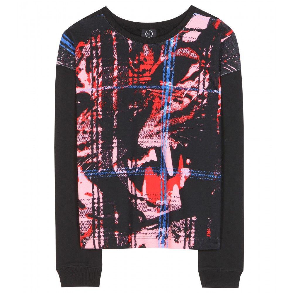 McQ Alexander McQueen - Printed cotton sweater - mytheresa.com GmbH
