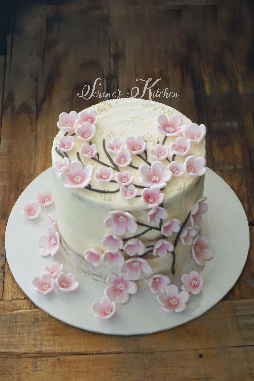 Sakura Flower Cake By Serenesskitchen088 Tortas Cumpleanos