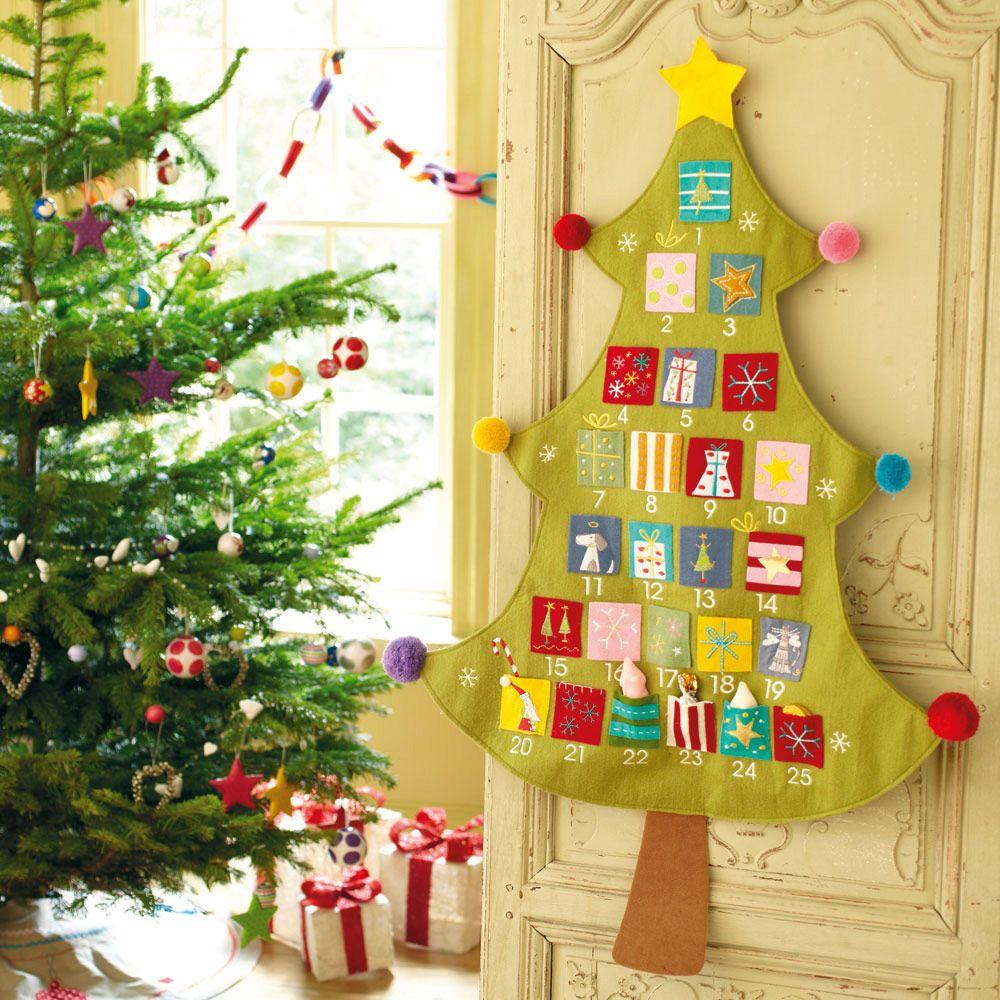 Felt Christmas Tree Advent Calendar: Christmas Tree Advent Calendar