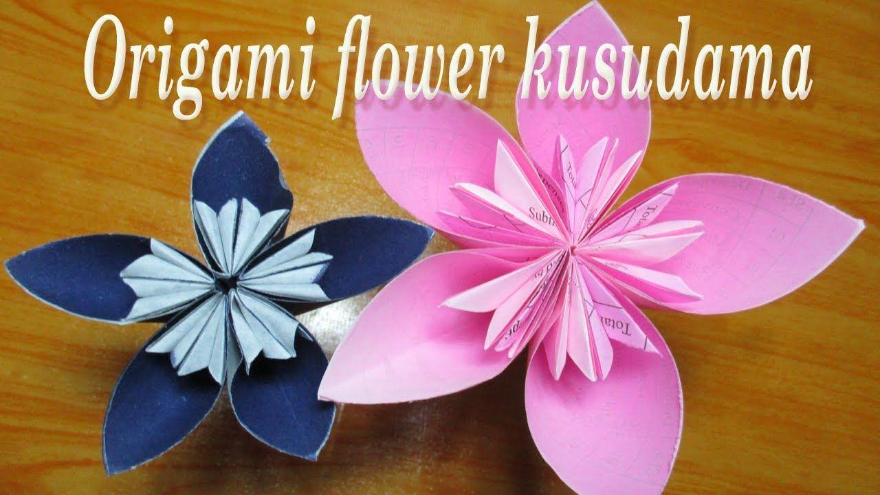 Amazing Photo of Origami Kusudama Flower origami tutorial easy