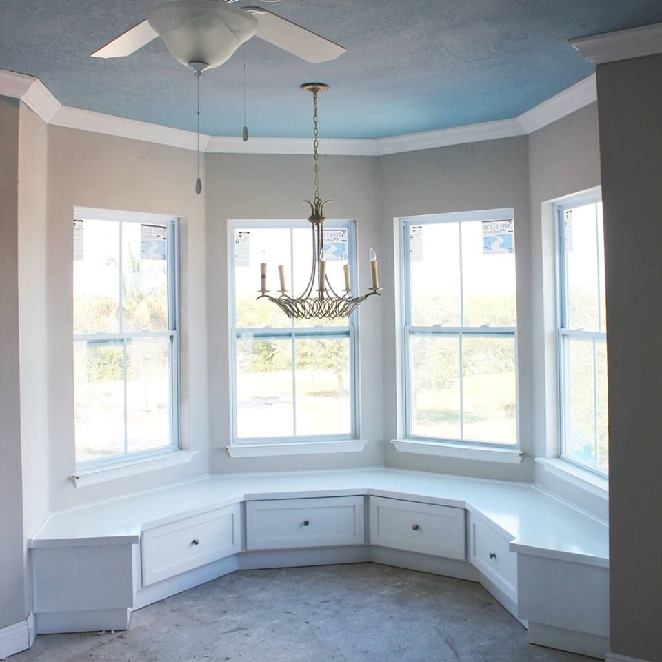 Kitchen With Bay Window Layout: Custom Built In Benches Kitchen Nook Curved Bump Out