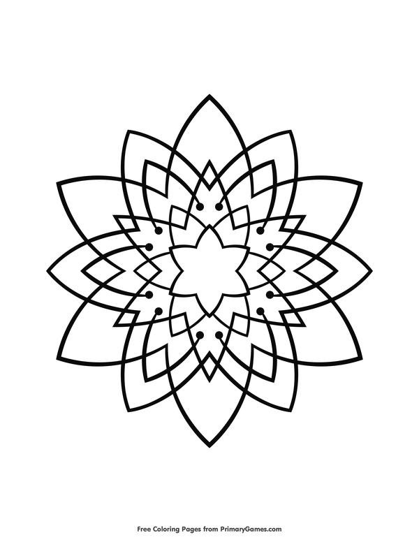 mandalas coloring pages ebook star mandala