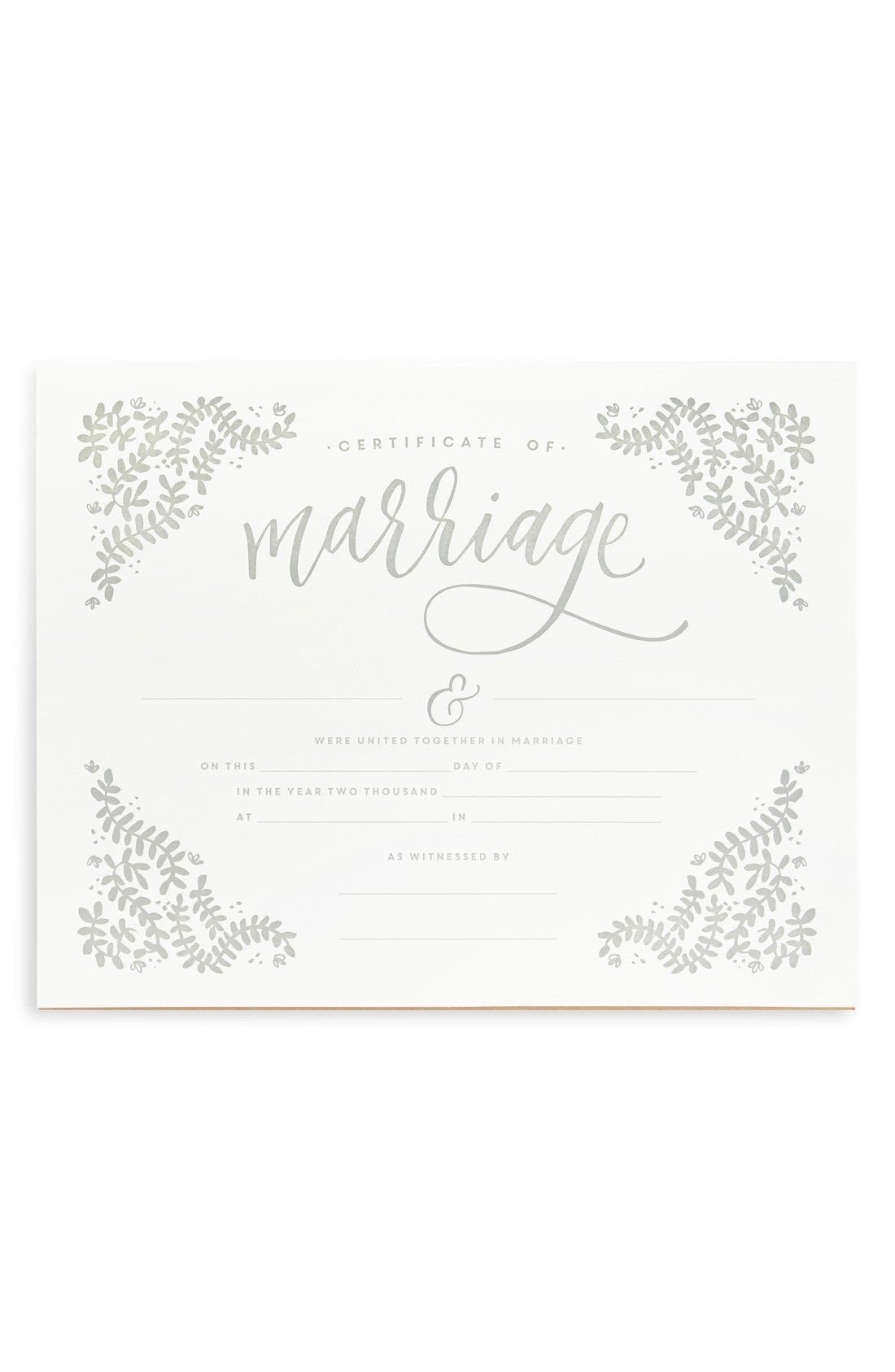 this elegant decorative marriage certificate is ideal for framing and serving as a treasured memento of the special day