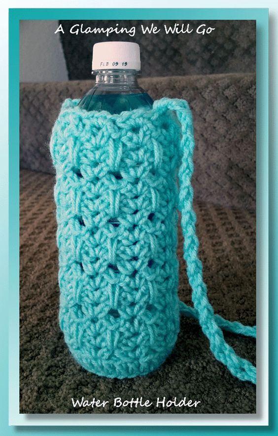 Glamping Water Bottle Crochet Stuff Pinterest Water Bottles