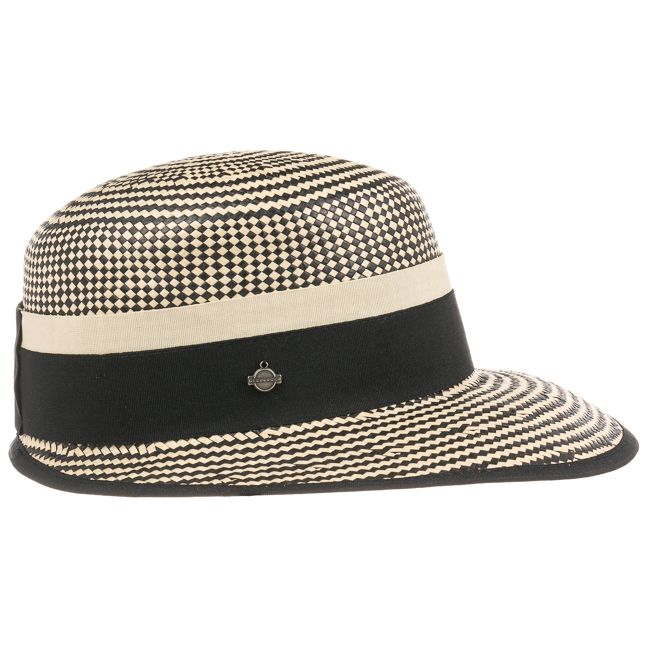 ee29fe3d82e Shop straw caps for women online. Summer caps. Twotone Straw Cap by  Seeberger with