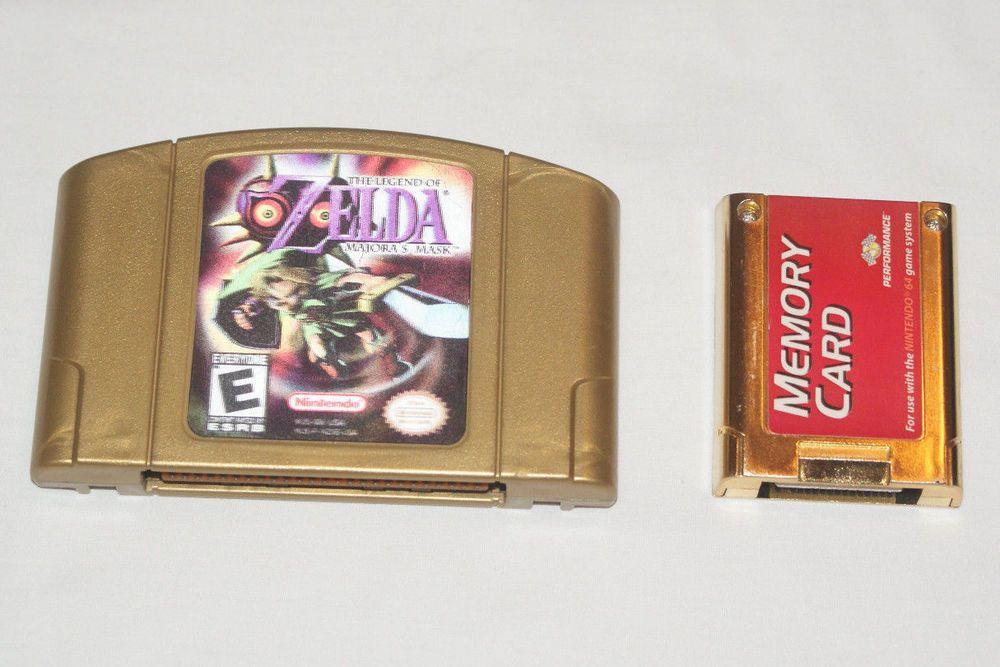 Legend Of Zelda Majora S Mask N64 Collectors Edition Hologram Gold Memory Card Majoras Mask Legend Of Zelda N64