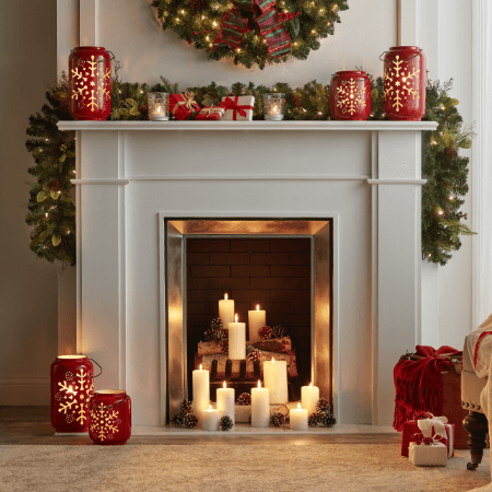 Christmas Candles Home Depot Christmas Decorations Indoor Christmas Decorations Holiday Decor Christmas
