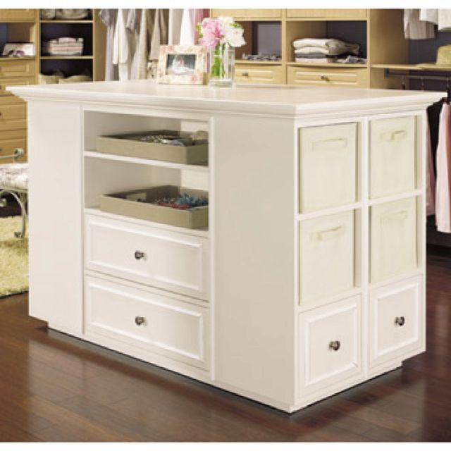 Walk On Closet Island For The Home Pinterest Closet Island Master Bedroom And Organize