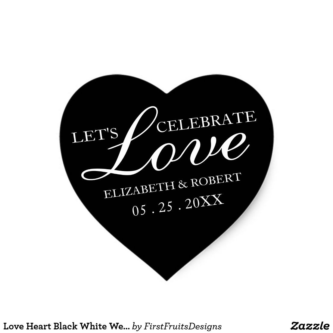 zazzle wedding invitations promo code%0A Love Heart Black White Wedding Invitation Stickers Your loved ones are  important to you