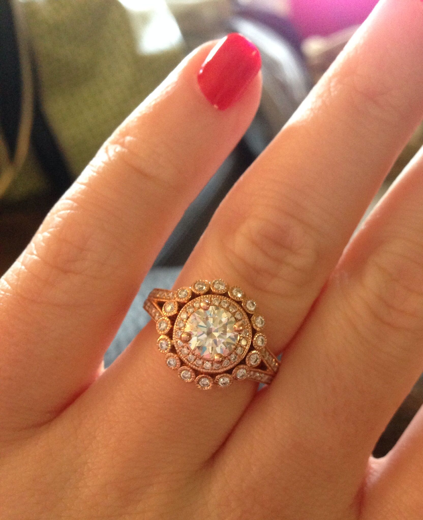 White Sapphire Yellow Gold Ring Engagement Ring We are engaged