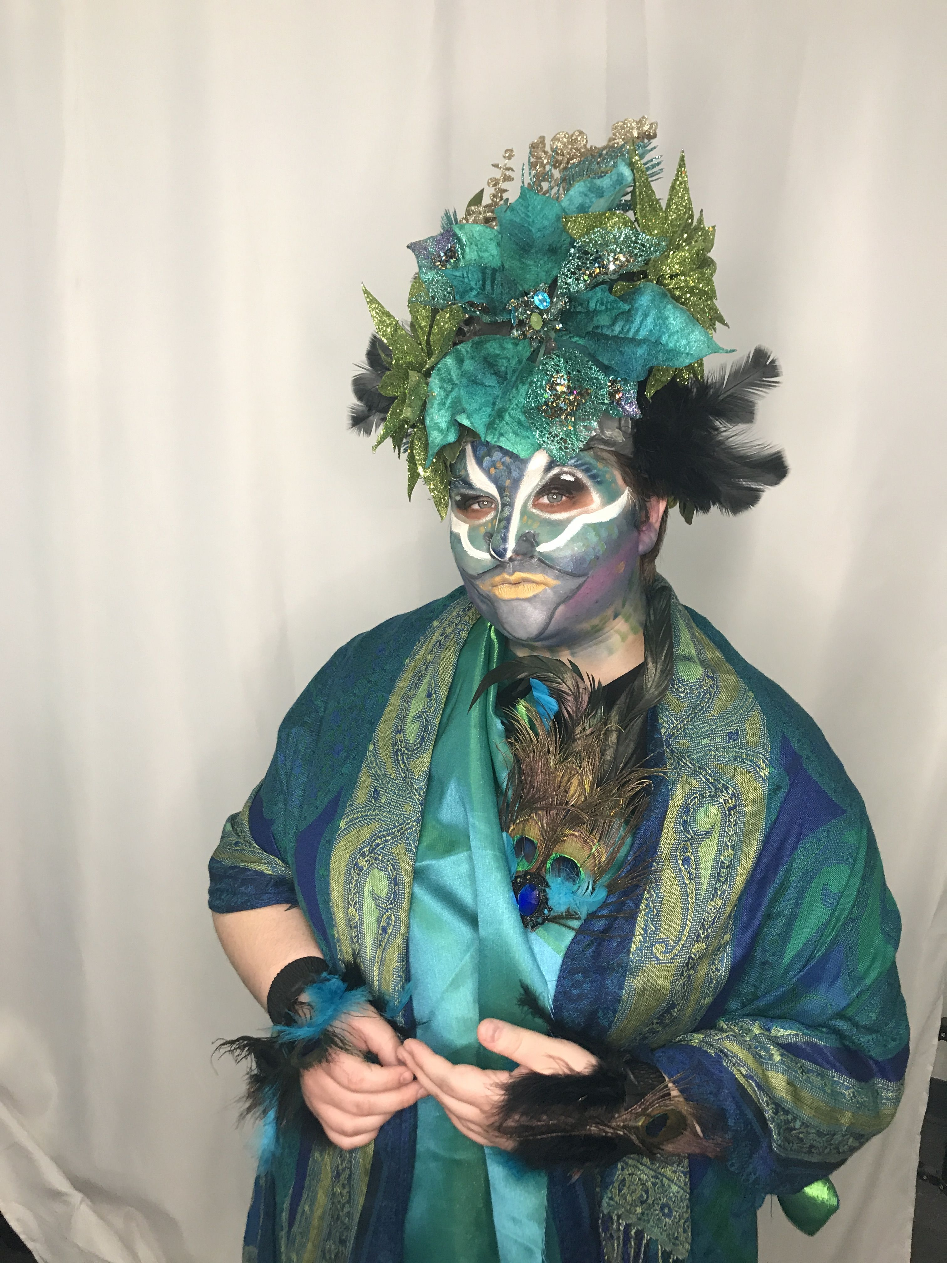 Peacock Demo by Shanna of Style by Shanna for Stage Makeup