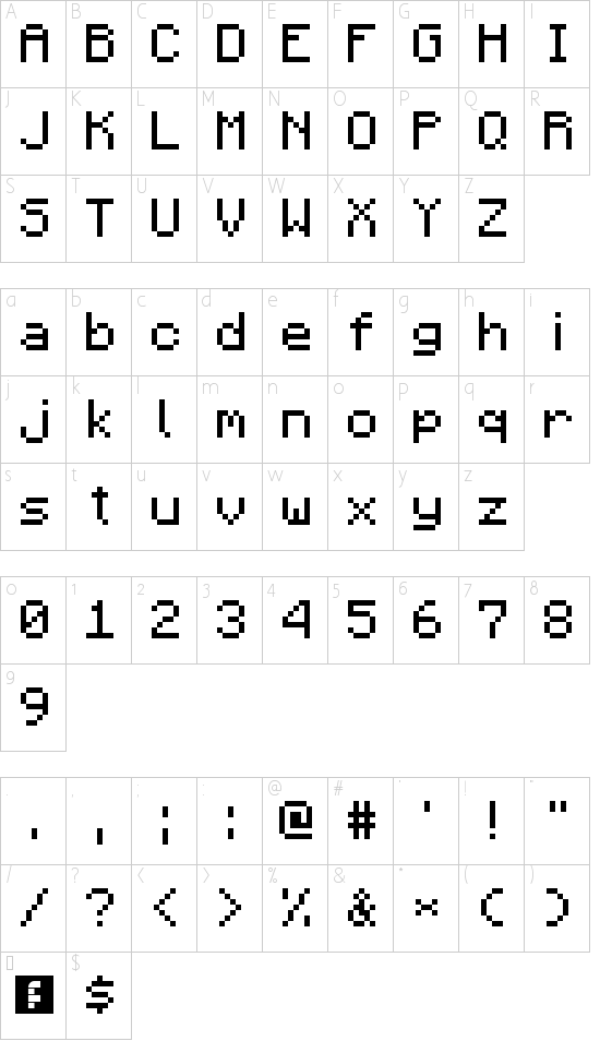 Minecraft Font character map | MInecraft | Pinterest ...