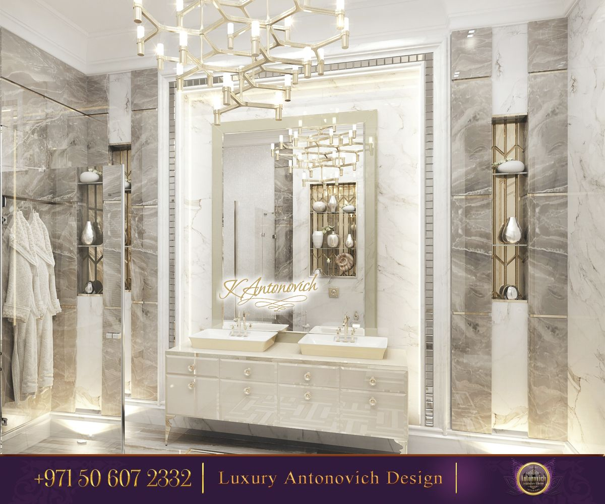 Amazing Modern Interior Design for Your Bathroom! Such a glamourous ...