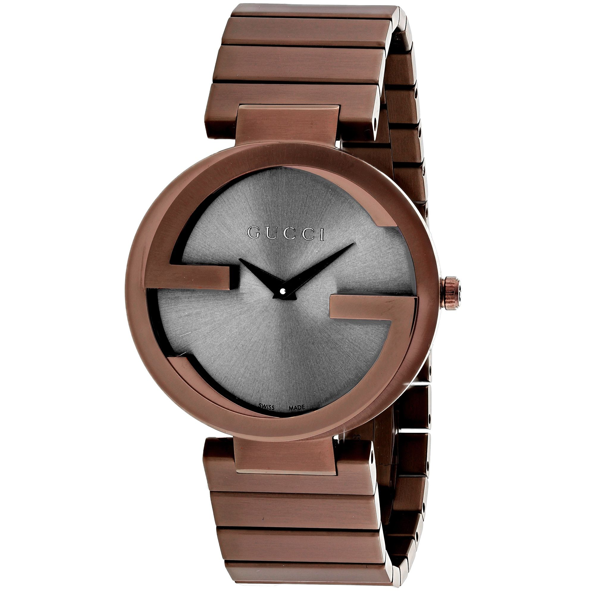 9791fc126e0 Gucci Women s YA133317 Interlocking G Round Rose Gold-tone Bracelet Watch