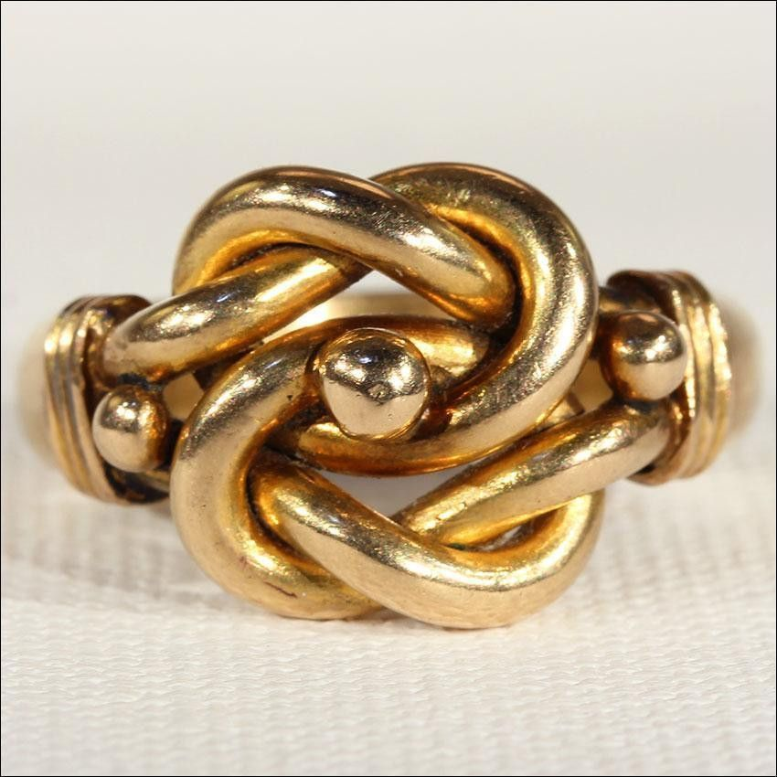 Riddles Sterling Silver Knot Ring