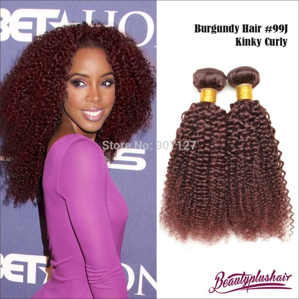 Red Wine Color 99j Brazilian Human Hair Weave Brazilian Hair Body W
