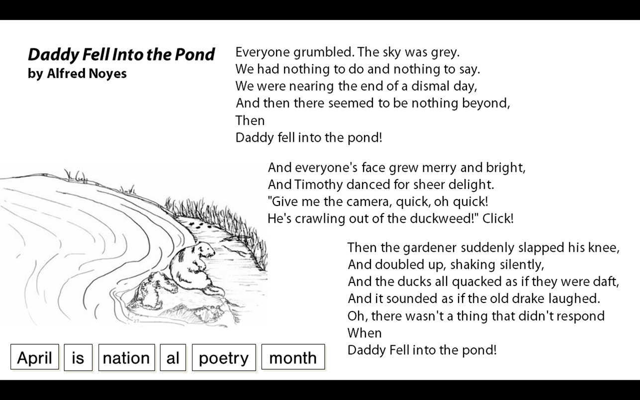 Daddy Fell Into The Pond By Alfred Noyes