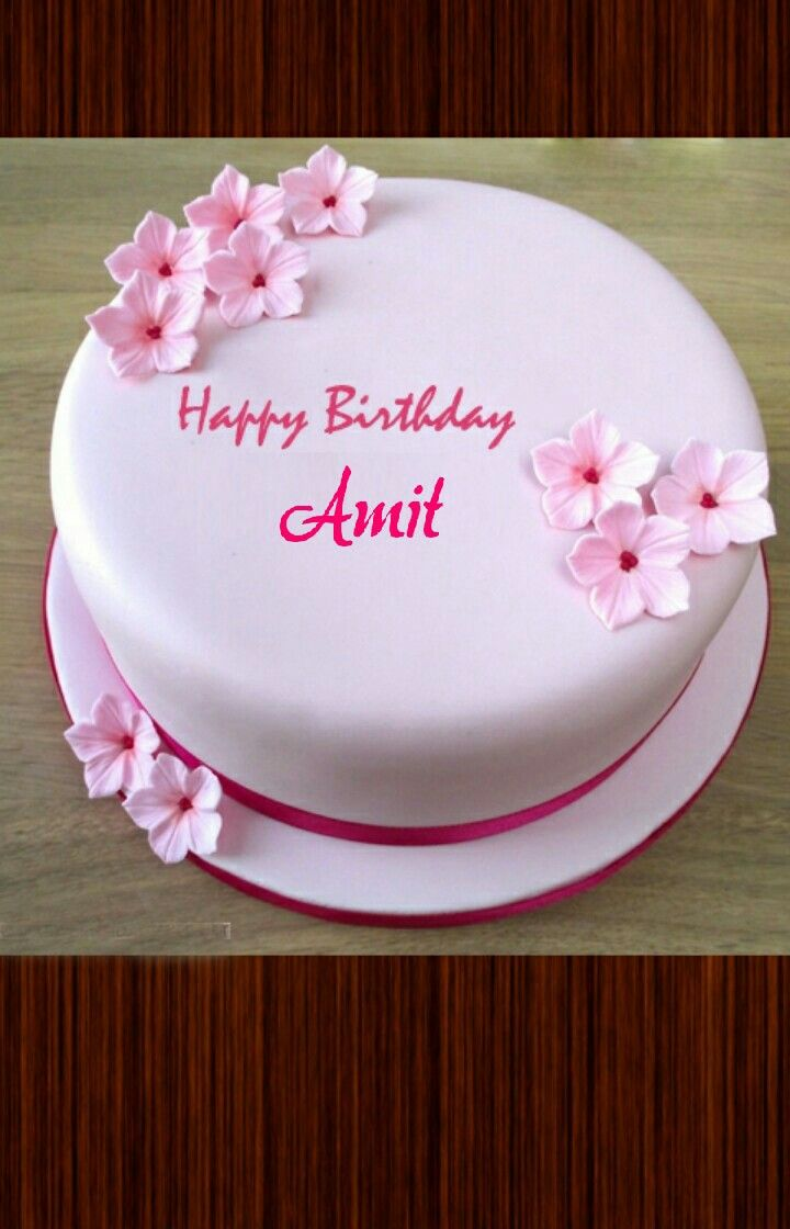 Pin By Neha Singh On Bday Pink Birthday Cakes Birthday Wishes Cake Birthday Cake With Photo