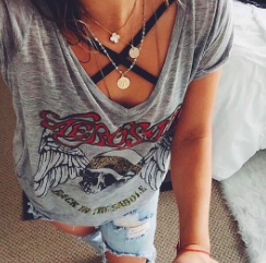 Aerosmith t-shirt … #countryconcertoutfit