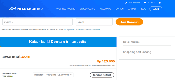 17++ Cara membeli hosting di niagahoster ideas