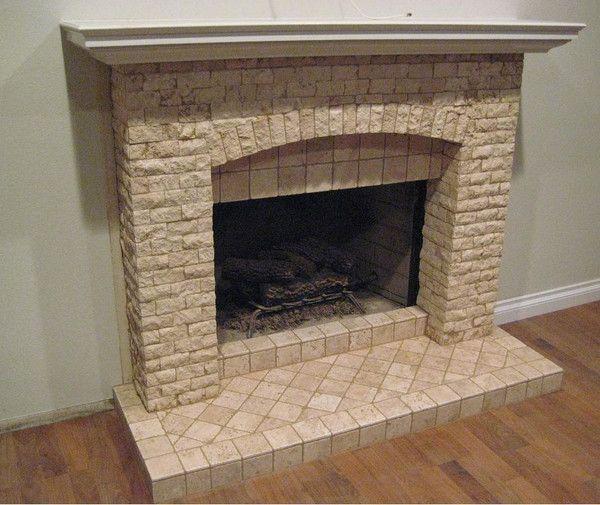 stone tiles fireplace - Google Search   Decor   Pinterest   Tiled ...