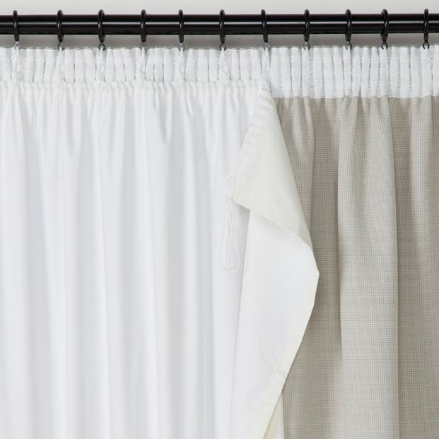 Ivory Blackout Curtain Lining Ready Made Lined Curtains Thermal