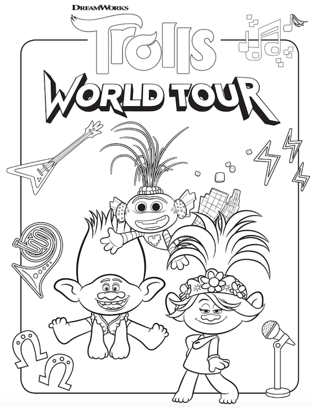 Trolls World Tour Coloring Sheets In 2020 Coloring Pages Poppy Coloring Page Coloring Pages For Kids