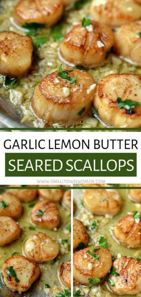 Garlic Lemon Butter Seared Scallops #easythingstocook