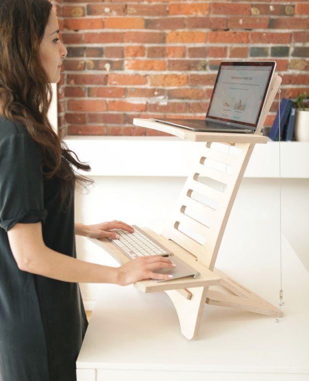 Standing Desk By Humble Works Bureau Debout Idees De Meubles