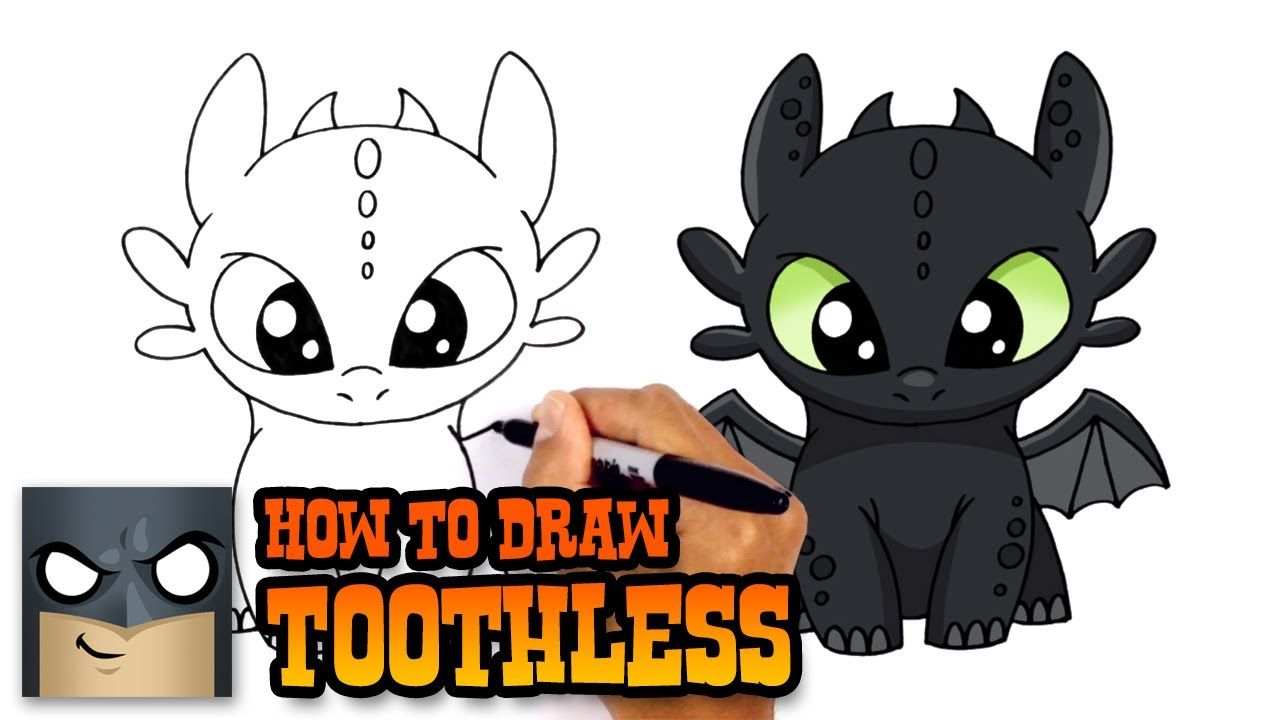 How to Draw Toothless | How to Train Your Dragon ...