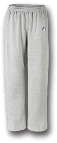 For black open bottom mens sweat pants