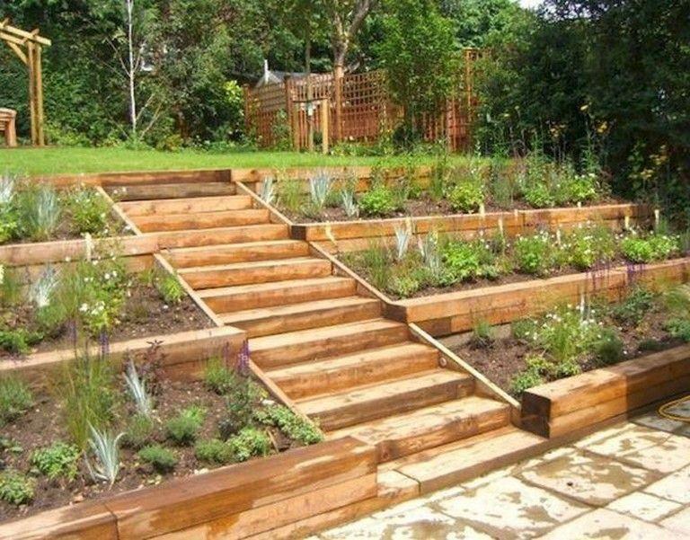 40 Best Large Backyard Ideas On A Budget Backyard Backyardideas Budget Rustic Landscaping Large Yard Landscaping Sloped Garden