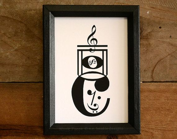 Drum Major / Marching Band music note art print, black and white fine art print, available in 5x7, 8x10, or 11x14 by Erin Heaton