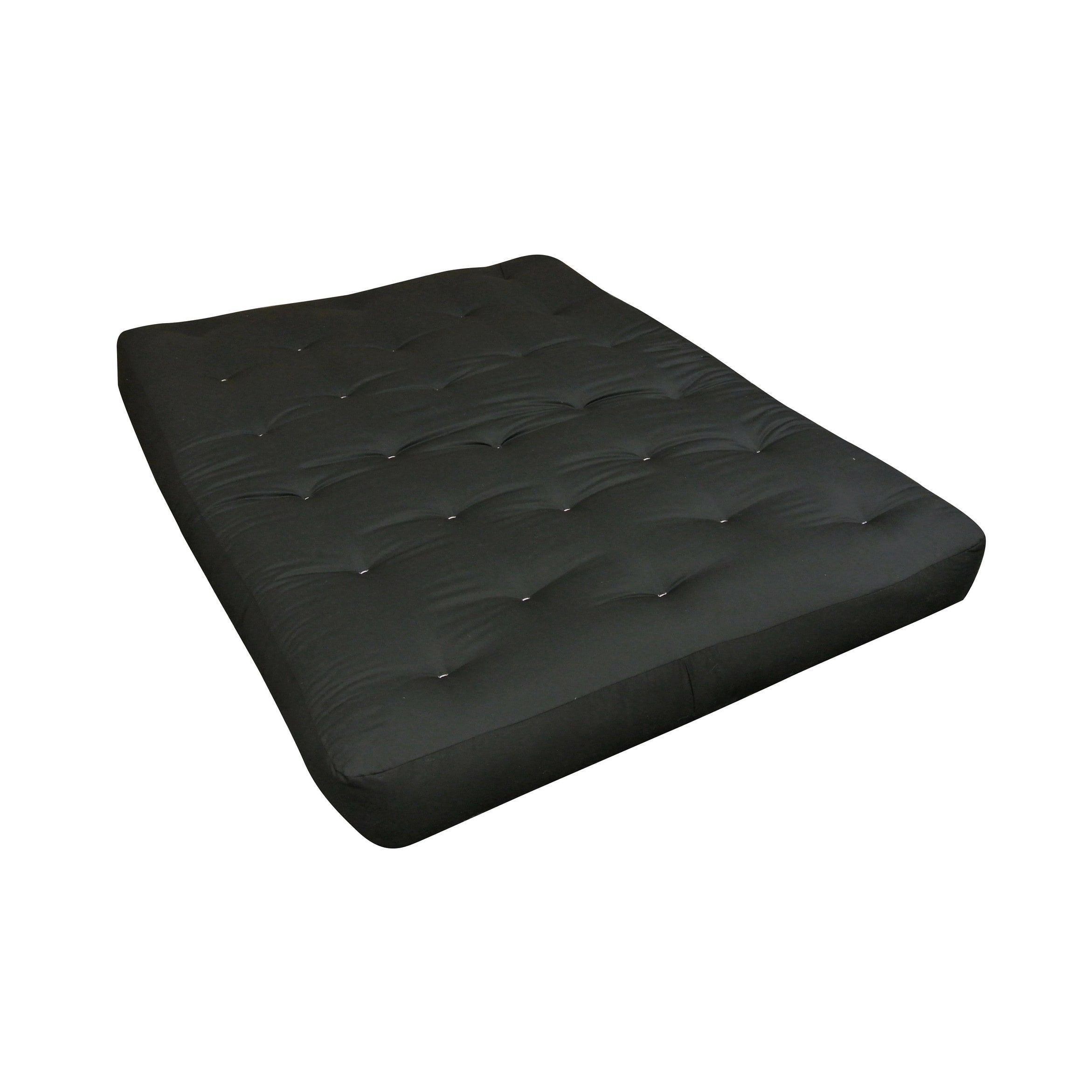 fortcoil black queen 9 inch duct futon mattress  black   polyester blend foam  fortcoil black queen 9 inch duct futon mattress  black      rh   pinterest