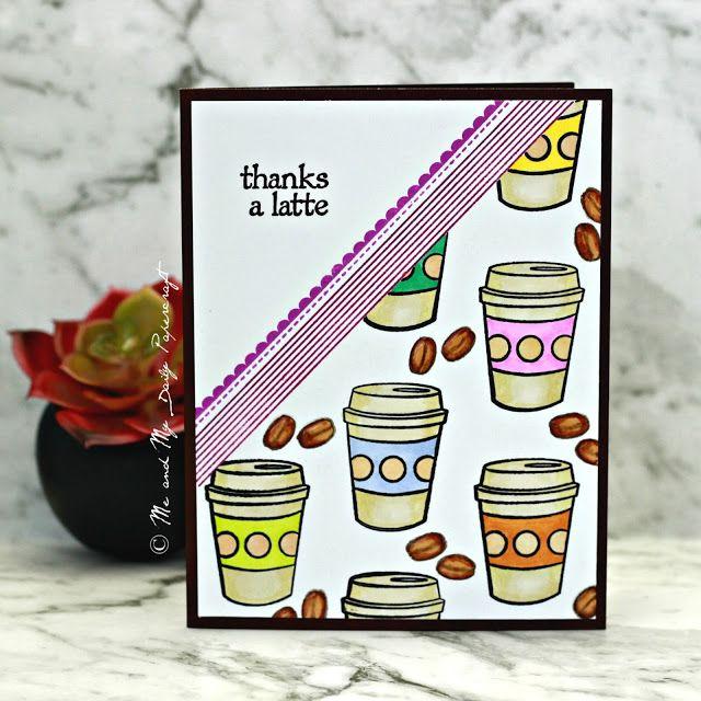 Thanks A Latte, Cards Handmade, Thankful