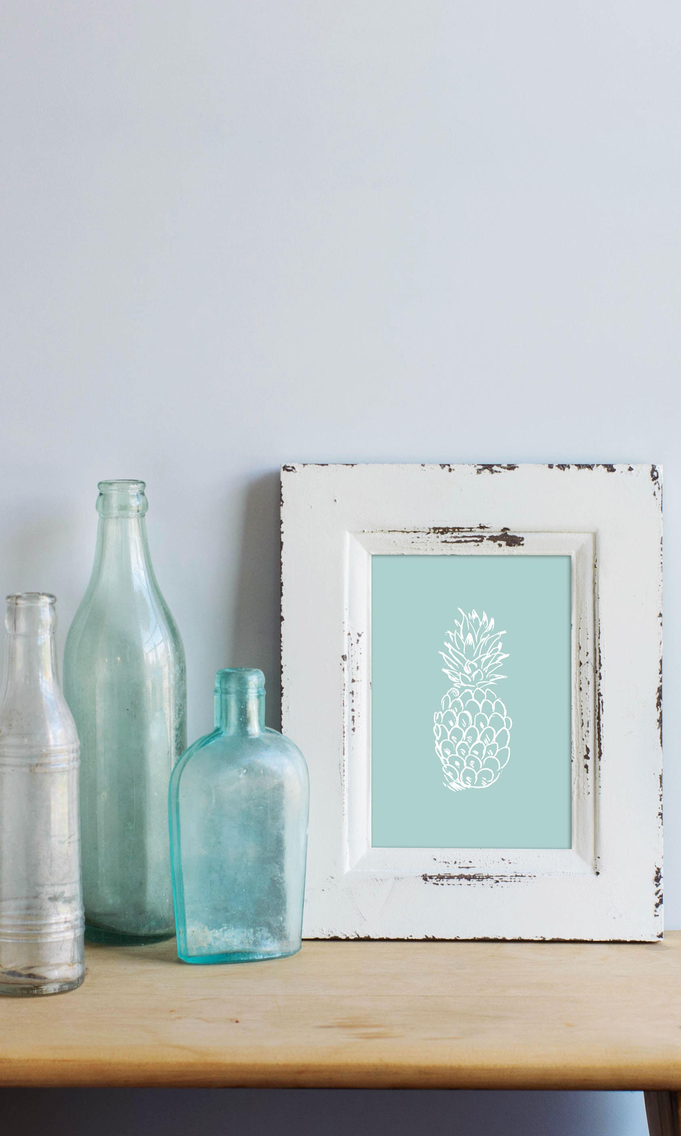 Mint pineapple print elegant beach and easy