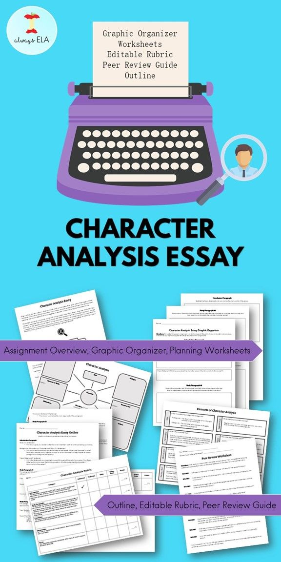 How to write a character analysis essay middle school