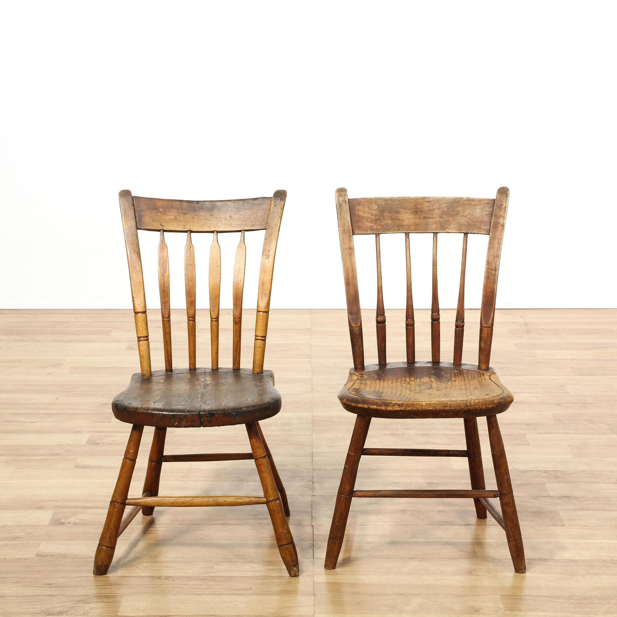 Fantastic This Pair Of Antique Early American Chairs Are Featured In A Andrewgaddart Wooden Chair Designs For Living Room Andrewgaddartcom