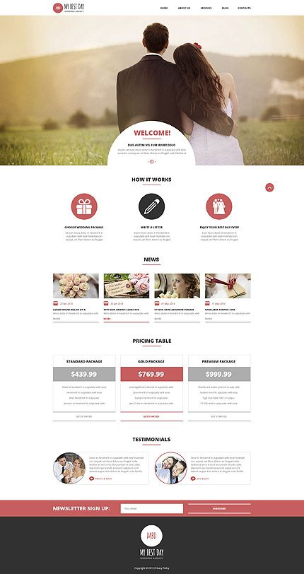 My Best Day Wedding Agency #WordPress #template. #themes #business ...