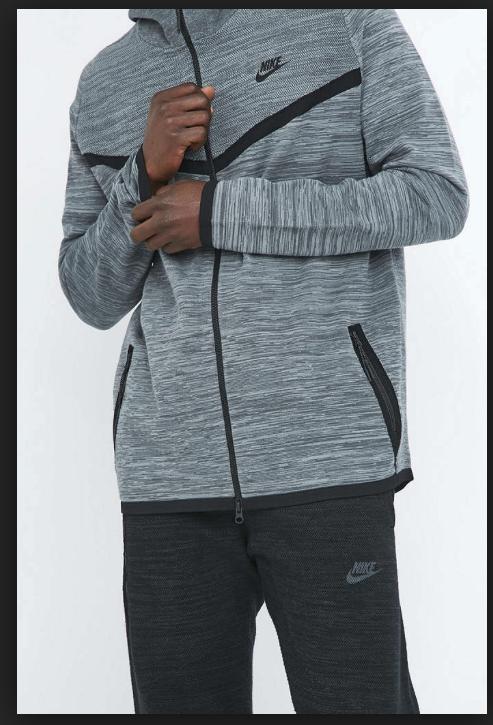 Nike Tech Knit Grey Windrunner Hoodie Nike Wear a0c6007b5