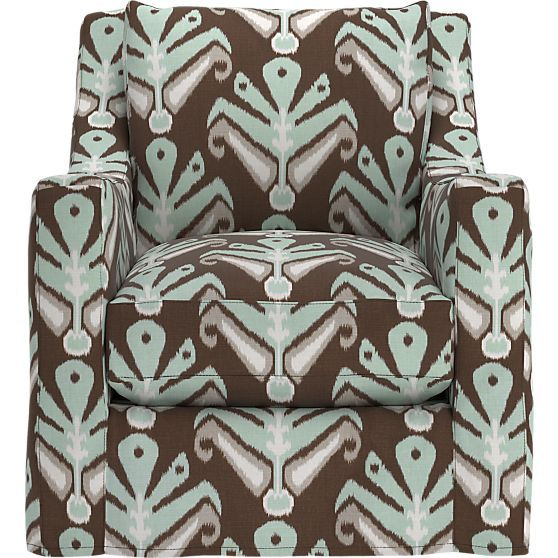 Love the fabric and shape, not the price | Verano Slipcovered Chair in Chairs | Crate and Barrel