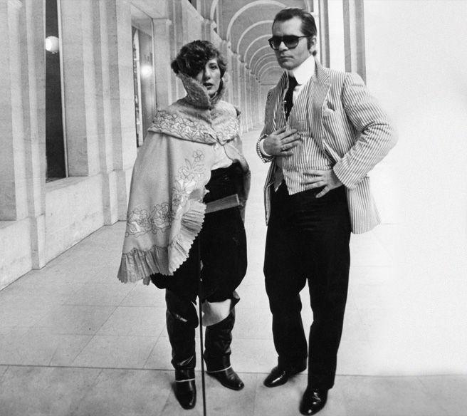 Remembering Anna Piaggi  Ana and Karl Lagerfeld